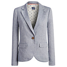 Buy Joules Tayla Linen Jacket, Mid Blue Online at johnlewis.com