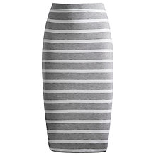 Buy Joules Medina Skirt, Grey Marl Stripe Online at johnlewis.com