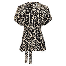 Buy Whistles Lenah Leopard Print Top, Black/Multi Online at johnlewis.com