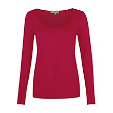 Buy Hobbs London Remi Jumper, Winter Fuchsia Online at johnlewis.com