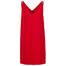 Buy French Connection Crystal Crepe V-Neck Dress, Royal Scarlet Online at johnlewis.com