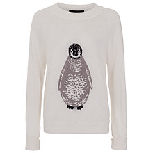 Buy French Connection Wool-blend Penguin Jumper, Winter White Online at johnlewis.com
