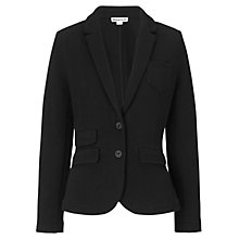 Buy Whistles Double Face Cotton Jersey Jacket, Black Online at johnlewis.com