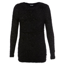 Buy Miss Selfridge Fluffy Tunic, Black Online at johnlewis.com
