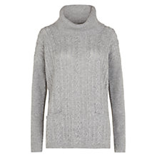 Buy Hobbs Cashmere Rosa Sweater, Husky Grey Online at johnlewis.com