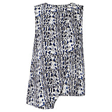 Buy Whistles Snake Print Silk Shell Top, Blue Online at johnlewis.com