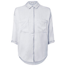 Buy Whistles Oversize Cocoon Shirt, Grey Online at johnlewis.com