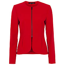 Buy French Connection Romeo Long Sleeve Fitted Jacket, Royal Scarlet Online at johnlewis.com
