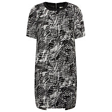 Buy Whistles Scribble Print Dress, Black / White Online at johnlewis.com