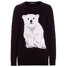 Buy Sugarhill Boutique Cotton Bear Jumper, Black Online at johnlewis.com