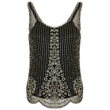 Buy Miss Selfridge Embellished Vest Top, Black Online at johnlewis.com