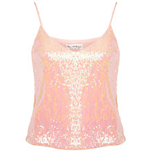 Buy Miss Selfridge Sequin Cami Top, Peach Online at johnlewis.com