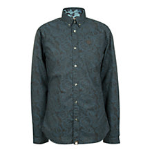 Buy Pretty Green Linear Paisley Shirt, Dark Navy Online at johnlewis.com