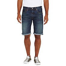 Buy Levi's 501 Straight Cut Off Denim Shorts, Super Stone Short Online at johnlewis.com