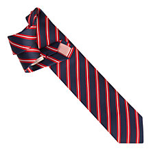 Buy Thomas Pink Ford Stripe Silk Woven Tie, Navy/Red Online at johnlewis.com