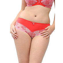 Buy Curvy Kate Temptress Print Short Briefs, Poppy Online at johnlewis.com