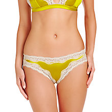 Buy Stella McCartney Clara Whispering Silk Bikini-Cut Briefs, Orchid Yellow / Ivory Online at johnlewis.com
