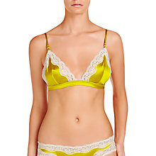 Buy Stella McCartney Clara Whispering Silk Soft Cup Bra, Orchid Yellow / Ivory Online at johnlewis.com