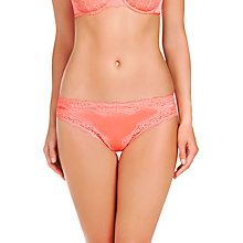 Buy Stella McCartney Clara Whispering Silk Bikini-Cut Briefs, Faded Fluo Online at johnlewis.com