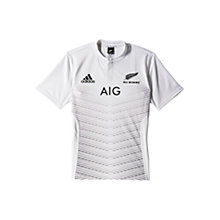Buy Adidas New Zealand Away Short Sleeve Rugby Jersey, White Online at johnlewis.com