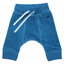 Buy Polarn O. Pyret Baby Velour Drawstring Trousers, Blue Online at johnlewis.com