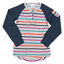 Buy Polarn O. Pyret Baby Merino Wool Stripe Raglan Jumper, Multi Online at johnlewis.com