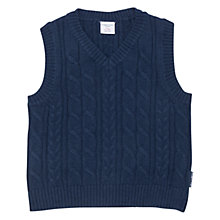 Buy Polarn O. Pyret Children's Wool Knit Tank Top, Blue Online at johnlewis.com