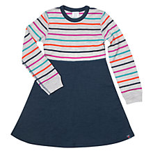 Buy Polarn O. Pyret Girls' Stripe Merino Wool Dress, Multi Online at johnlewis.com