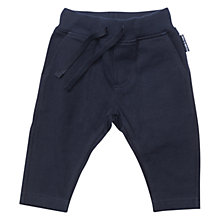Buy Polarn O. Pyret Baby Drawstring Trousers, Navy Online at johnlewis.com