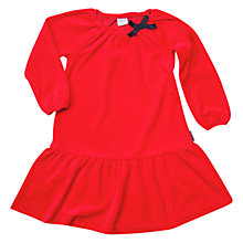 Buy Polarn O. Pyret Girls' Velour Bow A-Line Dress, Red Online at johnlewis.com
