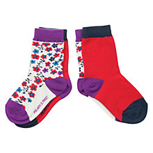 Buy Polarn O. Pyret Baby Floral Socks, Pack of 2, Multi Online at johnlewis.com