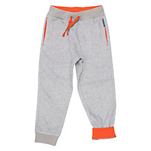 Buy Polarn O. Pyret Children's Fleece Trousers, Grey/Orange Online at johnlewis.com