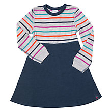 Buy Polarn O. Pyret Baby Stripe Merino Wool Jersey Dress, Multi Online at johnlewis.com