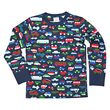 Buy Polarn O. Pyret Children's Vehicle Print Long Sleeve Top Online at johnlewis.com