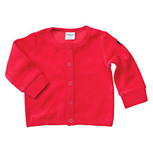 Buy Polarn O. Pyret Baby Velour Cardigan, Red Online at johnlewis.com