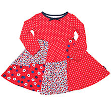 Buy Polarn O. Pyret Girls' Floral Long Sleeve Dress, Red Online at johnlewis.com