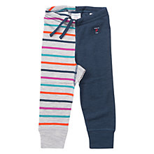 Buy Polarn O. Pyret Children's Stripe Contrast Trousers, Grey/Blue Online at johnlewis.com
