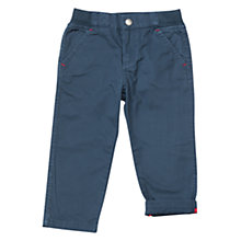Buy Polarn O. Pyret Plain Baby Boy Trousers, Blue Online at johnlewis.com