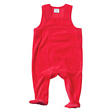 Buy Polarn O. Pyret Baby Velour Romper, Red Online at johnlewis.com