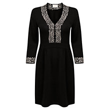 Buy East Rose Embroidered Dress, Black Online at johnlewis.com