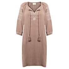Buy East Anila Embroidered Cotton Dress, Calico Online at johnlewis.com