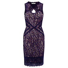Buy Oasis Sweetheart Neckline Dress, Berry Online at johnlewis.com