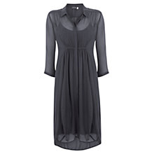 Buy Mint Velvet Cocoon Shirt Dress, Steel Online at johnlewis.com