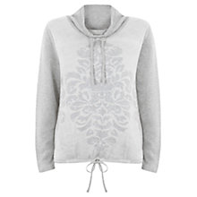 Buy Hygge by Mint Velvet Jacquard Jumper, Grey/Ecru Online at johnlewis.com