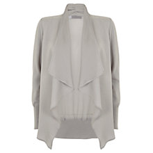 Buy Mint Velvet Drape Front Cardigan, Dove Grey Online at johnlewis.com