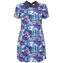 Buy Wolf & Whistle Victorian Ink Collar Dress, Multi Online at johnlewis.com