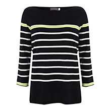 Buy Mint Velvet Nautical Stripe Tipped Jumper, Multi Online at johnlewis.com