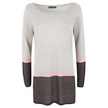 Buy Mint Velvet Stripe Candy Tipped Jumper, Ivory/Pale Grey Online at johnlewis.com
