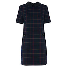 Buy Warehouse Window Pane Print Dress, Navy Online at johnlewis.com
