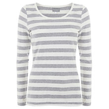 Buy Hygge by Mint Velvet Striped T-Shirt, Silver Grey Online at johnlewis.com